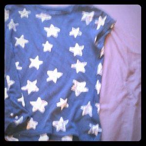 Navy Blue Star Tee